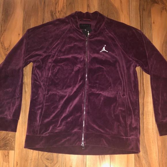 cff7ab13488c03 Nike Air Jordan Velour Full Zip Jacket
